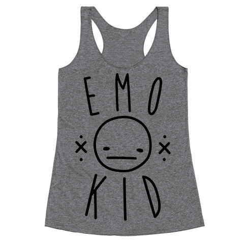 Emo Kid Racerback Tank Top