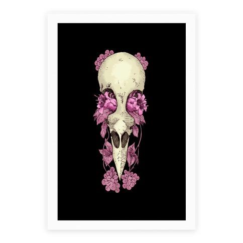 Bird Skull Poster
