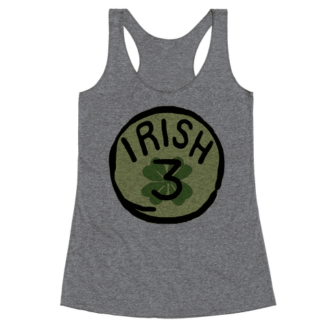Irish 3 (St. Patricks Day) Racerback Tank Top