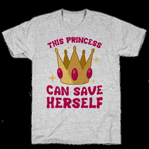 This Princess Can Save Herself Mens T-Shirt