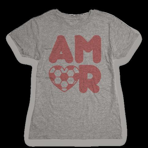 Soccer Amor Womens T-Shirt