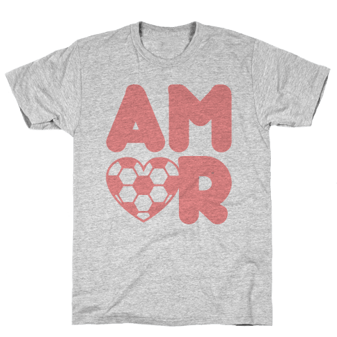 Soccer Amor Mens T-Shirt