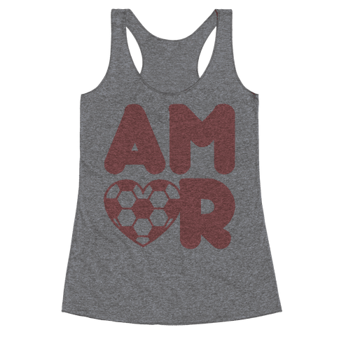 Soccer Amor Racerback Tank Top