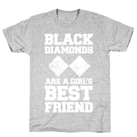 Black Diamonds Are A Girl's Best Friend (White Ink) Mens T-Shirt