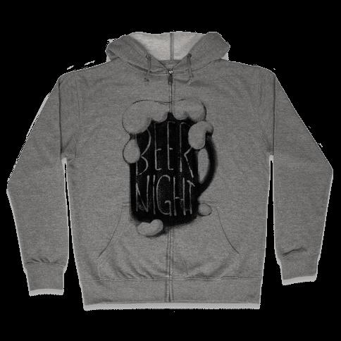 Beer Night Zip Hoodie