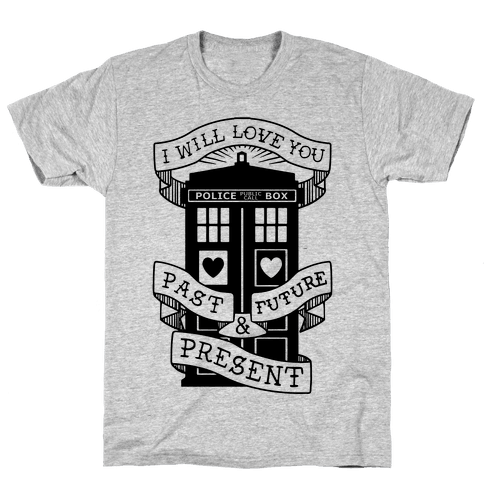 Doctor Who Love Past Future Present Mens T-Shirt