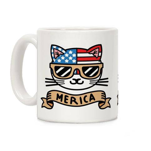 Merica Cat Coffee Mug