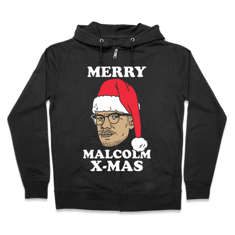Malcolm X-Mas Zip Hoodie