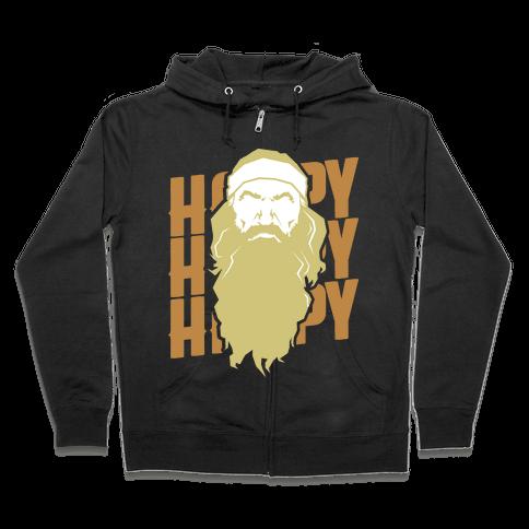 Happy Happy Happy  Zip Hoodie