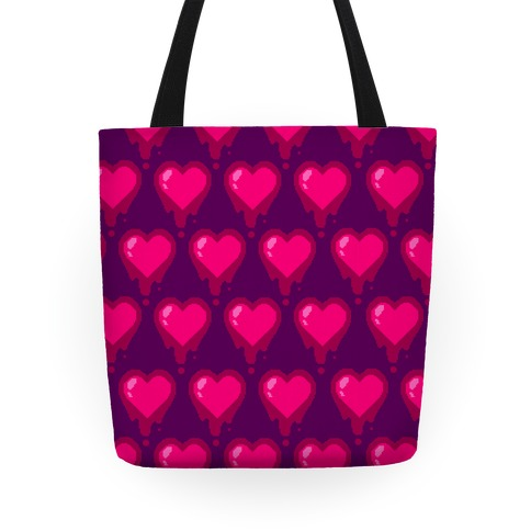 Bleeding Heart (Purple) Tote