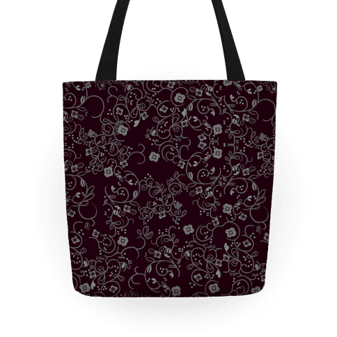 Gothic Flora Pattern Tote