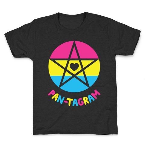 Pan-tagram (Pansexual Pentagram) Kids T-Shirt