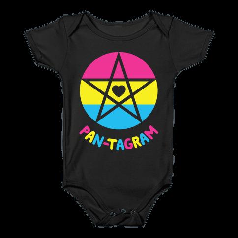 Pan-tagram (Pansexual Pentagram) Baby Onesy
