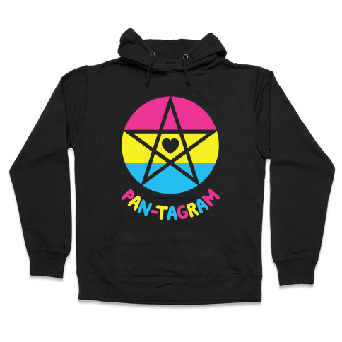 Pan-tagram (Pansexual Pentagram) Hooded Sweatshirt