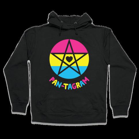 Pan-tagram (Pansexual Pentagram) Hooded Sweatshirt