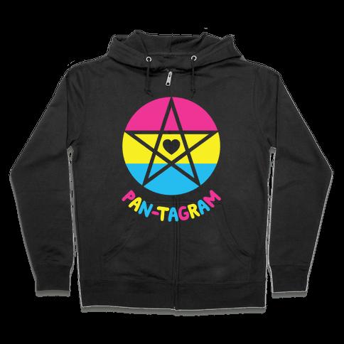 Pan-tagram (Pansexual Pentagram) Zip Hoodie