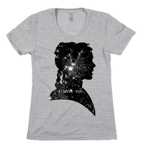 Leia Loves You Womens T-Shirt