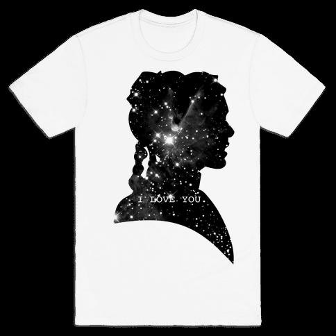 Leia Loves You Mens T-Shirt