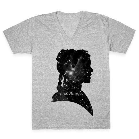Leia Loves You V-Neck Tee Shirt