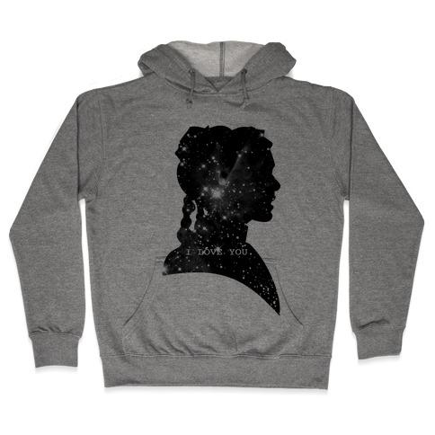 Leia Loves You Hooded Sweatshirt