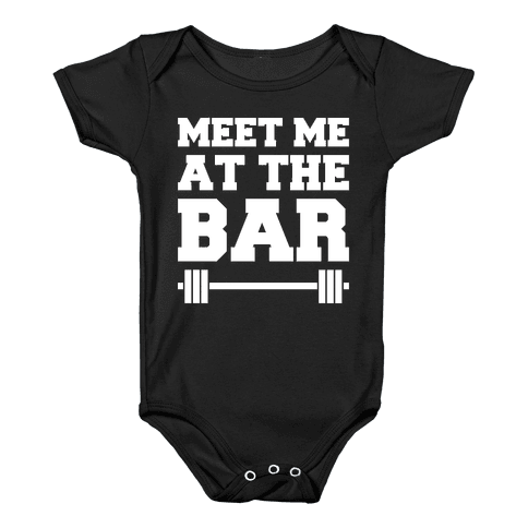 Meet Me At The Bar Baby Onesy