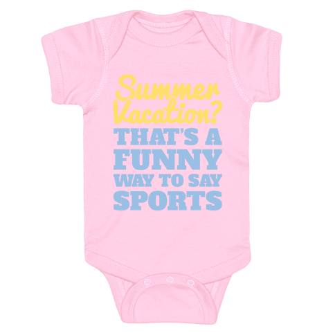 Summer Sports Baby Onesy