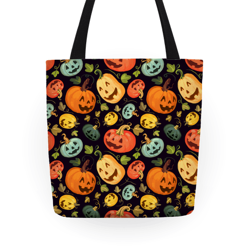 Happy Autumn Pumpkin Pattern Tote