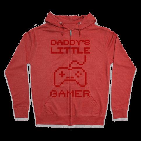 Daddy's Little Gamer Zip Hoodie