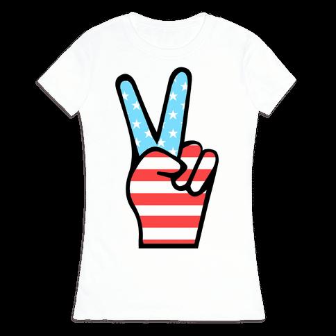 Peace Man Womens T-Shirt