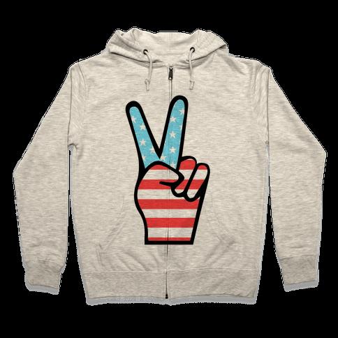 Peace Man Zip Hoodie