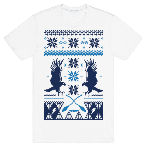 Hogwarts Ugly Christmas Sweater: Ravenclaw Mens T-Shirt