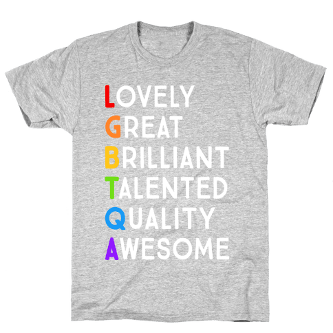 LGBTQA Meanings Mens T-Shirt