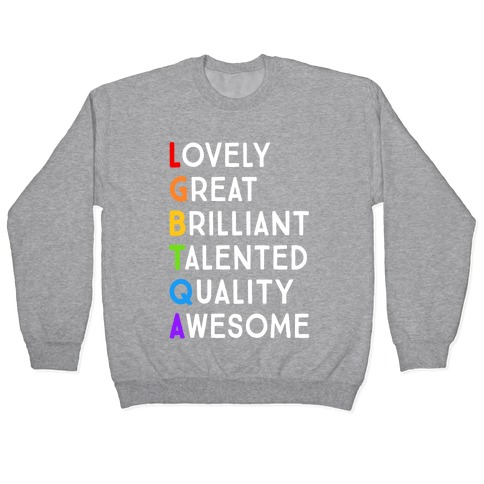 LGBTQA Meanings Pullover