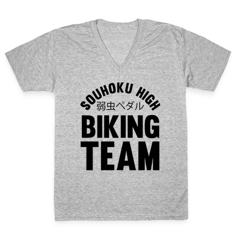 Souhoku High Biking Team V-Neck Tee Shirt