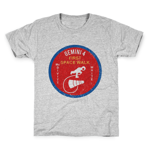 Gemini 4 First Space Walk Kids T-Shirt