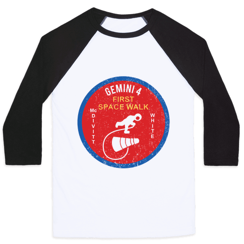 Gemini 4 First Space Walk Baseball Tee