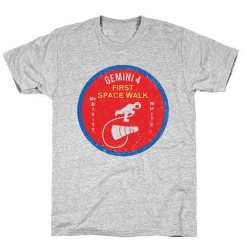 Gemini 4 First Space Walk Mens T-Shirt