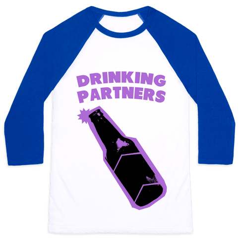 Drinking Partners (Purple) Baseball Tee