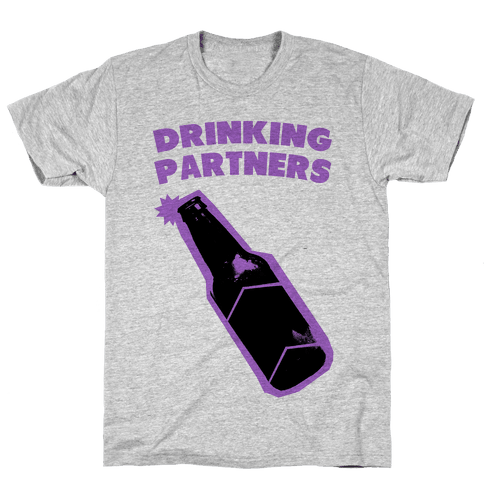 Drinking Partners (Purple) Mens T-Shirt
