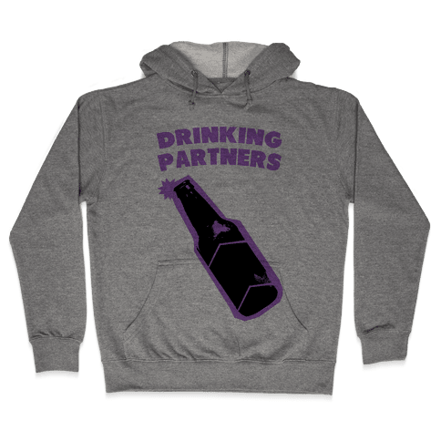 Drinking Partners (Purple) Hooded Sweatshirt