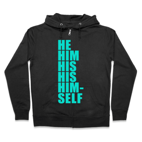 Gender Pronoun Guide Zip Hoodie