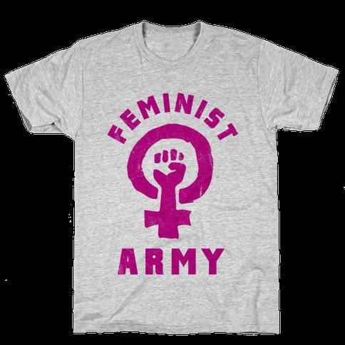 Feminist Army Mens T-Shirt