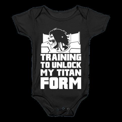 Training To Unlock My Titan Form Parody Baby Onesy
