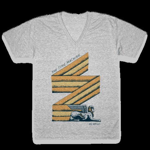 Time Machine V-Neck Tee Shirt
