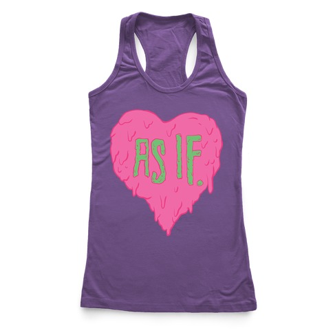 As If Heart Racerback Tank Top