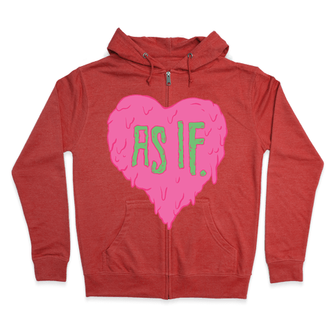 As If Heart Zip Hoodie