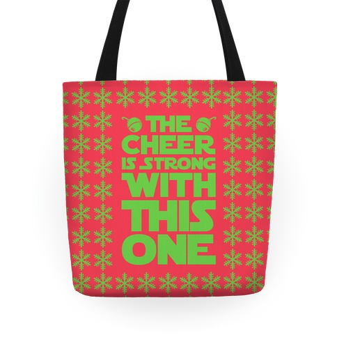 The Cheer is Strong With This One (Red) Tote