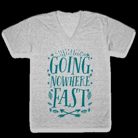 Going Nowhere Fast V-Neck Tee Shirt