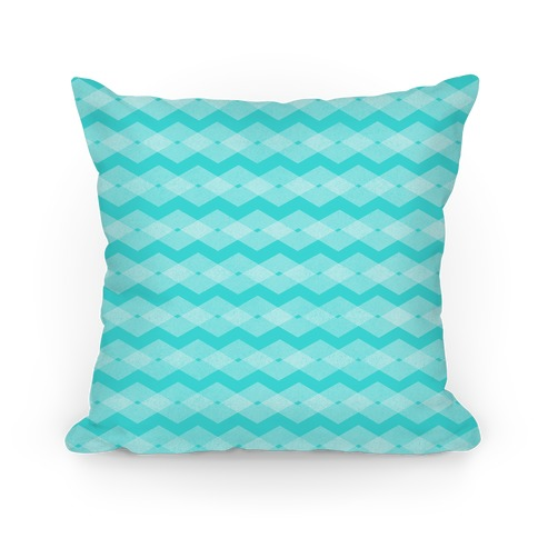 Teal Zig Zag Pattern Pillow