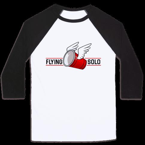 Flying Solo Baseball Tee